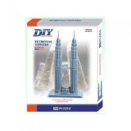 Petronas Towers Model 3D - Educational Puzzle