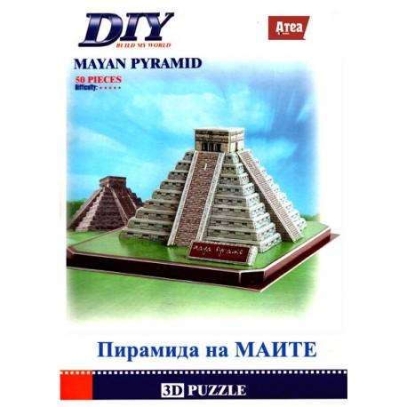 Пирамидата на Маите 3D Puzzle Model