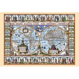 Старинна карта на света от 1639 г.