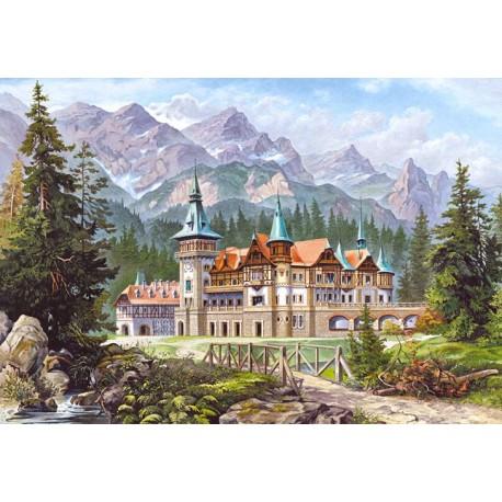 Замък в подножието на планина
