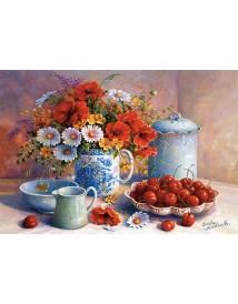 Пъзел - Meadow Flowers and Cherries, Trisha Hardwick