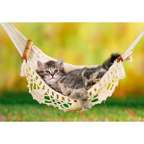 Пъзел - Kitten in Hammock