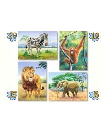 Четири пъзела: Диви животни