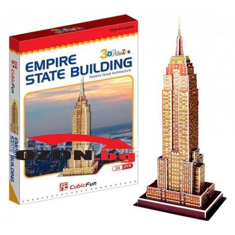 Триизмерен 3D пъзел Empire State Building