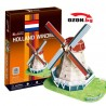 Триизмерен 3D пъзел Holland Windmill