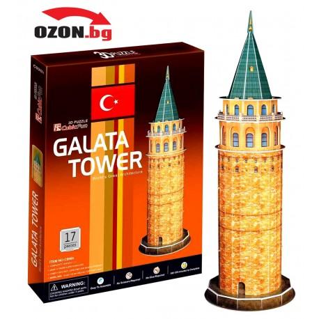 Триизмерен 3D пъзел The Galata Tower