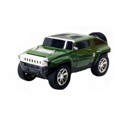 Музикална кола - зелен Land Rover